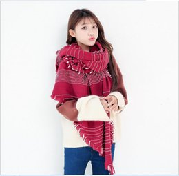 Wholesale New Beard Styles - Wholesale of the new south Korean hair of 2017 autumn and winter hair beard imitation cashmere scarf lady long style warm scarf