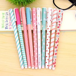 Wholesale Cute School Supplies Wholesaler - Wholesale-10 Pcs set New Cute Cartoon Colorful Gel Pens Set Kawaii Korean Stationery Creative Gift School Supplies 0.38mm