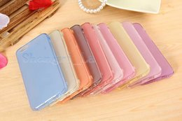 Wholesale Iphone Gel Flip - Factory Price Flip Wallet Clear crystal transparent skin TPU Gel Silicone Full cover case cases For iphone 6 4.7 inch 5.5 inch free shipping