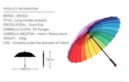 Wholesale Umbrella Big Size - promotional fashion colorful Big size outdoor 24 ribs rainbow straight umbrellaCustom Weatherproof Print OEM Golf Umbrella With Logo