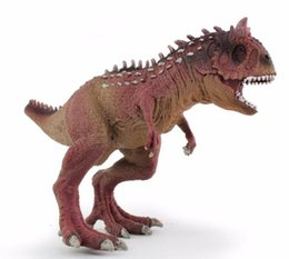 Wholesale Plastic Souvenirs - Jurassic Carnotaurus Action Figure Animal Model Collection Vivid Hand Painted Souvenir Plastic toy Dinosaur Birthday Gift