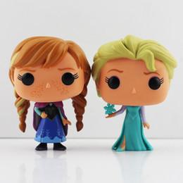 Wholesale Pops Dolls - FUNKO POP Frozen Elsa & Anna Wacky Wobbler Bobble Head PVC Action Figure Collection Toy Doll 10cm