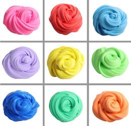 2019 material de juguetes de espuma DIY Fluffy Foam Crystal Slime Clay Kids Aliviar el estrés Juguete Algodón Plastilina de barro para niños 12 colores plastilina