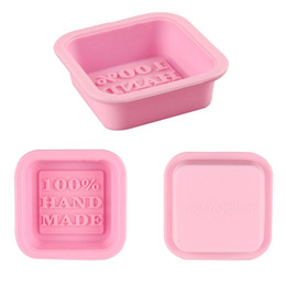 Wholesale craft molds - Delicate Cute Craft Art Square Silicone Oven Handmade Soap Molds DIY Soap Mold Hot Selling