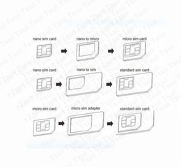 Wholesale Sim Card Adapter Pc - Wholesale-10 Pcs High Quality 4 in 1 Nano Sim Card Adapters + Micro Sim + Stander Sim Card SIM Card & Tools For Iphone 4s 5s 6 for
