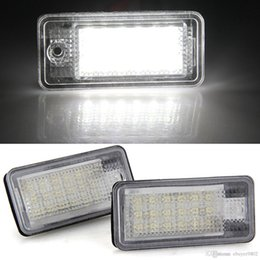 Wholesale Audi Led Lamp - 2 x White 18 LED 3528 SMD License Plate Lights Lamps Bulbs for AUDI A3 S3 A4 S4 B6