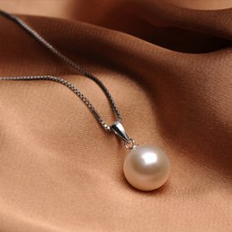 Wholesale Pendant Necklace Pearl Natural - Jewelry manufacturers wholesale Korean folk style retro natural pearls pearl necklace Sterling Silver Pendant female S925