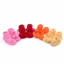 Wholesale Baby Slipper Crochet - Toddler Indoor Slippers Girls Soft Sandals Cute Styles Baby Cheap Cartoon Shoes Toddlers Crochet Christmas Boot Wholesale Shoes China