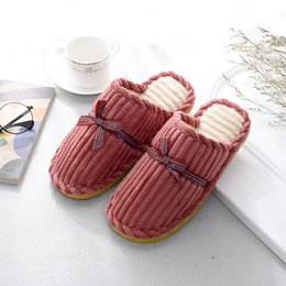 Wholesale Thermal Wear Fabric - Autumn and winter new couples cotton slippers wholesale, interior home special price, cotton drag, anti-skid wear, gifts, thermal slippers