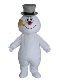 Wholesale Mascot Clothes - Hottest Frosty Snowman Mascot Costume Walking Adult Cartoon Clothing Free Shipping