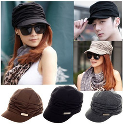 Wholesale Yarn For Sale Wholesale - Hot Sale Korean Version Spring and Winter Gorro Cap Lady's Fashion Drape Delicate Women Men Hats 3 Color for Free Ship CW05012