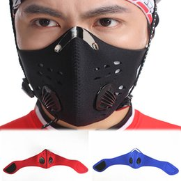 Wholesale Blue Activated Carbons - Wholesale-PM2.5 Activated Carbon Riding Mask Hiking Anti-pollution City Cycling Outdoor Sports Masks 3 Colors Sport-0095