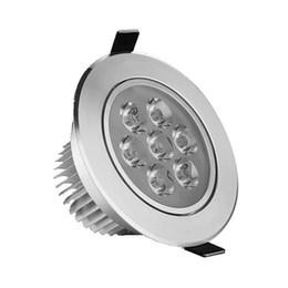 Wholesale Flush Mount Bathroom Lighting - 7x1W LED Ceiling Spot Light Lampe Flush Mount 7W Dimmable 110V 220V for Supermarket Bathroom Indoor Lampada Decoration Warm white CE FCC