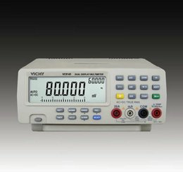 Wholesale Bench Dmm - Wholesale-VICHY VC8145 LCD DMM Digital Bench Top Multimeter Meter