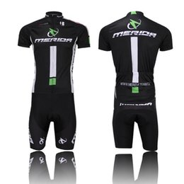 Wholesale Merida Cycling Suit - Wholesale-New Merida Team Sport Suit Bike Ciclismo Jersey Cycling Clothing Short Sleeve Bike Wear Shirt + Shorts Set Comfortable
