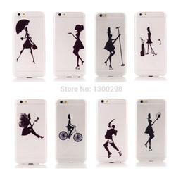 Ultra Thin Hard PC Case 4.7 pulgadas para iPhone 6 6G Bolsa de teléfono móvil para iPhone6 apple Logo Clear Fashion Pretty Girls contraportada desde fabricantes