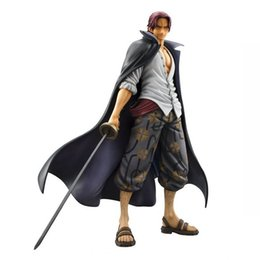 "Wholesale Pirate Toy Box - Anime One Piece Akakami no shankusu 24.5cm 9.6"" BIG Figure Colosseum Portrait of Pirates Monkey D Luffy Figure New in Box"