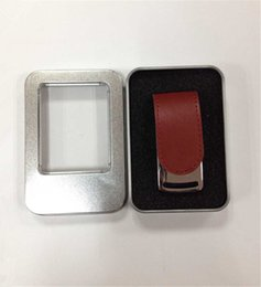 Wholesale Flash Thumb Drives - New arrival Leather 64GB 128GB 256GB USB Flash Drive thumb drive 50 pieces a lot