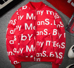Wholesale Collar Stand Design - Latest design supreman jackets Red ma1 men women jacket Hoodies sweater hip hop kanye yeezus coat Cotton clothes Y 3 jackets off couple