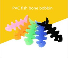 Wholesale Earphone Wire Winder - Wholesale PVC bobbin New Stylish Fish Bone Auto Cable Cord Wire Organizer Roller Bobbin Winder Smart Wrap For Headphone Earphone