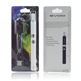 Wholesale Usb Charger Mah - Kanger EVOD Blister Kits Evod MT3 Kit Evod BCC Atomizer 1.5ML Vaporizer Evod Battery 650 900 1100 mah Come with USB Charger