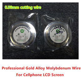 Wholesale Iphone 4s Gold - High Quality New 0.08MM Gold Molybdenum Wire Cutting line wire For Iphone 4 4s 5 6 6S Samsung S4 S3 Glass Separator refurbish Machine Repair