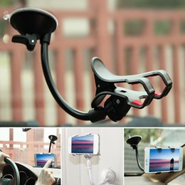 Wholesale Car Mount Rotating Clip - Universal 360 Rotating Fully Adjustable Windshield GPS Car Phone Holder Stand Bracket Support Flexible Mobile Smart Cell Phone Mount Clip