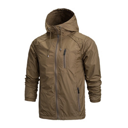 Wholesale Sports Jacket For Men Outdoor - Wholesale-2016 Outdoor Jacket Men Waterproof Softshell Jacket Windproof Breathable Hiking Jackets For Sport Camping Rain Hoodies A0123-5