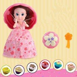 Wholesale Barbies Dolls - Cupcake Princess Surprise Scented Doll Reversible Cake Transform to Mini Princess Doll Barbie 12 Roles 6 Flavors Magic Toys CCA7868 50pcs
