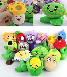 "Wholesale Plush Soft Toys - New 5"" Plants VS Zombies Soft Plush Toy With Sucker A full 1 set 14 pcs"