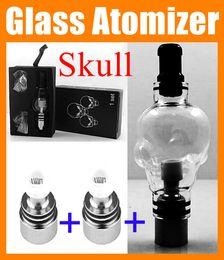 Wholesale Vapor Ego Series - Skull Globe Glass Atomizer ego 510 Wax Tank 4.0ml huge Vapor E-Cig Vaporizer Atomizer Fit For EGO Series with box ATB016