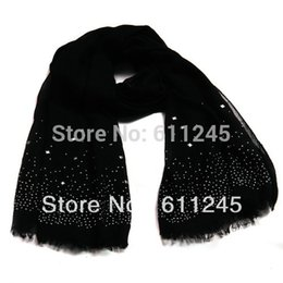 Wholesale Scarves Studs - Wholesale-Min order is usd15 Fashion Cheap Neon Polyester Scarf With Stud Rivet