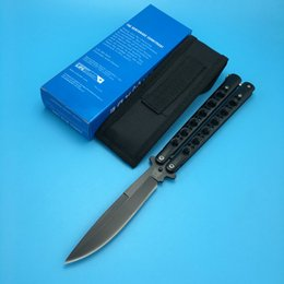 Wholesale Folding Box Spring - Benchmade BM42 Butterfly Balisong Black Edition Spring Latch Camping knife knives new in original box BM42 43 41 47 3300 3350