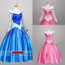 Wholesale Sexy Cosplay Fairy - Fairy disfraces mermaid prom cinderella dress for girls Long Sleeve Satin princess costumes for adults cinderella costumes cosplay custom