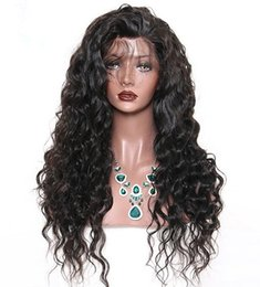 Wholesale Loose Wavy Remy Hairstyles - Loose wavy Lace Front Human Hair Wigs For Black Women Pre Plucked Natural Hairline With Baby Hair Remy Hair