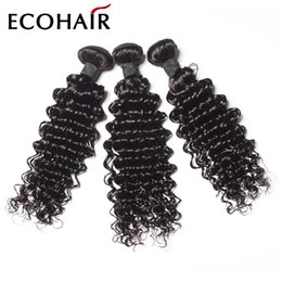 Wholesale Elite Natural Human Hair - Indian Deep Curl Human Hair Indian Deep Wave Human Hair Weave Indian Remy Hair Bundle Deals Virgin Eurasian Curly ELITES HAIR