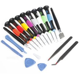 Wholesale Repairing Kit - 16 in 1 Screwdrivers Set Mobile Phone Repair Tools Kit For iPad4 iPhone 6 Plus 5