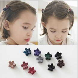 Wholesale Mini Hair Clamps - Wholesale Bulk Resin Flower Mini Claw Clamp Hair Clip Hair Pin NEW Barrette Hair Accessories for Baby Girl Lady
