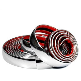 Wholesale Decoration Moulding Strip - mould case 6M x 20mm Car Decoration MOULDING Trim Decorative Strip Style Chrome Silver Wedge Trim Hot Sell Car Styling
