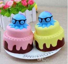 Новый стиль Squishy осьминог медленный рост крем торт дети Новый год игрушка подарок торт модель игрушки от