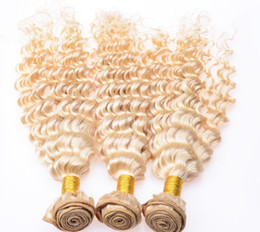 Wholesale Indian Sewing Machines - Kinky Curly Indian Virgin Hair Sew-in Weaves,613 Blonde Deep Curly Wavy Human Hair Wefts,Bleached Blonde Kinky Curly Bundles Hair 14-22''