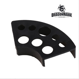 Kunststoff-lochkappen online-Tattoo Supplies Kunststoff Ink Cup Holder Schwarz 8 Löcher Ink Cap Stand WS012