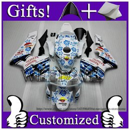 Wholesale Honda Nastro - CBR600RR 2003-2004 ABS Fairing For Honda REPSOL white blue BREIL 03 04 CBR600 RR Nastro Azzurro 46#