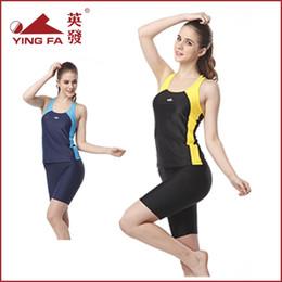 Wholesale Swimsuit Body Short - Climax genuine new sport Ms. split boxer swimsuit hot springs bathing suit YF1513 Conservative Shorts
