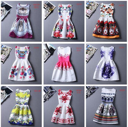 Wholesale Wholesale Clothing For Plus Sizes - 80 Designs Womens Dresses 2016 Summer Dress for Women Casual Print Dress European Style Vest Vintage Women Clothing Vestidos Dress Plus Size