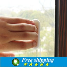 Wholesale White Kitchen Door Knobs - Wholesale- 4pcs High Quality white sticky glass door handle kitchen cupboard window drawer plastic handles cabinet knobs and handles.