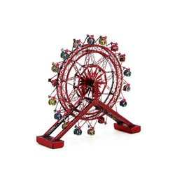 Wholesale Cutting Wheel For Metal - Ferris Wheel 3D Metal Puzzle Model Colorful Assembly Earth Model Kits Laser Cut Toy Jigsaw Artwork DIY Building Block Gift for Adults