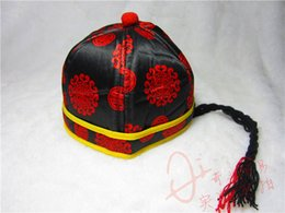Wholesale Winter Accessories Ear Muffs - 2014 Traditional Chinese Costume Children's Hat Cap Cute Baby Pigtail Caps Lovely Kids Accessories Caps Baby Hat New Year Child Hats A2030