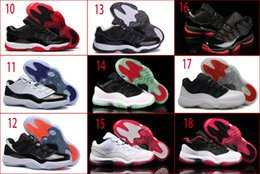 Wholesale Nude Colour Shoes - 18 Colours (With Box) 2015 New Wholesale Retro 11 XI Space Jams Infrared 23 Gamma Blue Bred Men Basketball Sport Shoes