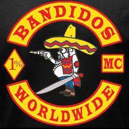 Argentina Hierro en los remiendos Bandidos Remiendos para la chaqueta Chaleco de la motocicleta de encargo Mc parches bordados Suministro